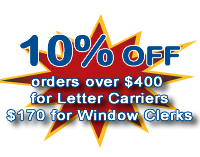 Spend full postal uniform allowance for 10% off