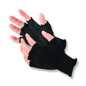 Half-Finger Grip Dot Glove - Medium
