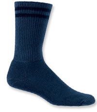 Blue Thorlos Crew Length Sock - L