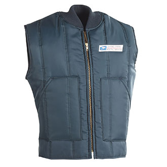 Insulated Postal Vest for Mail Handlers and Maintenance Personnel