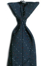Men's Postal Retail Clerk Navy Clip-On Tie